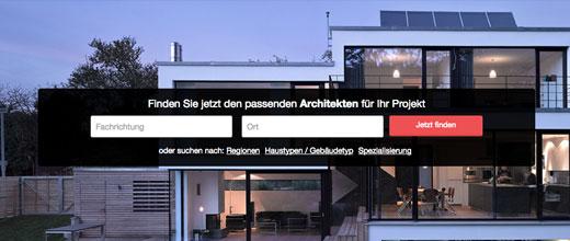 Architektensuche auf architekten.de