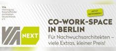 VfA_NEXT: Co-Work-Arbeitsplätze für Architektennachwuchs in Berlin